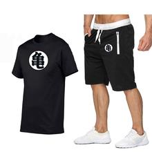 Summer sports and leisure suits cotton short-sleeved t-shirt + Men's fashion