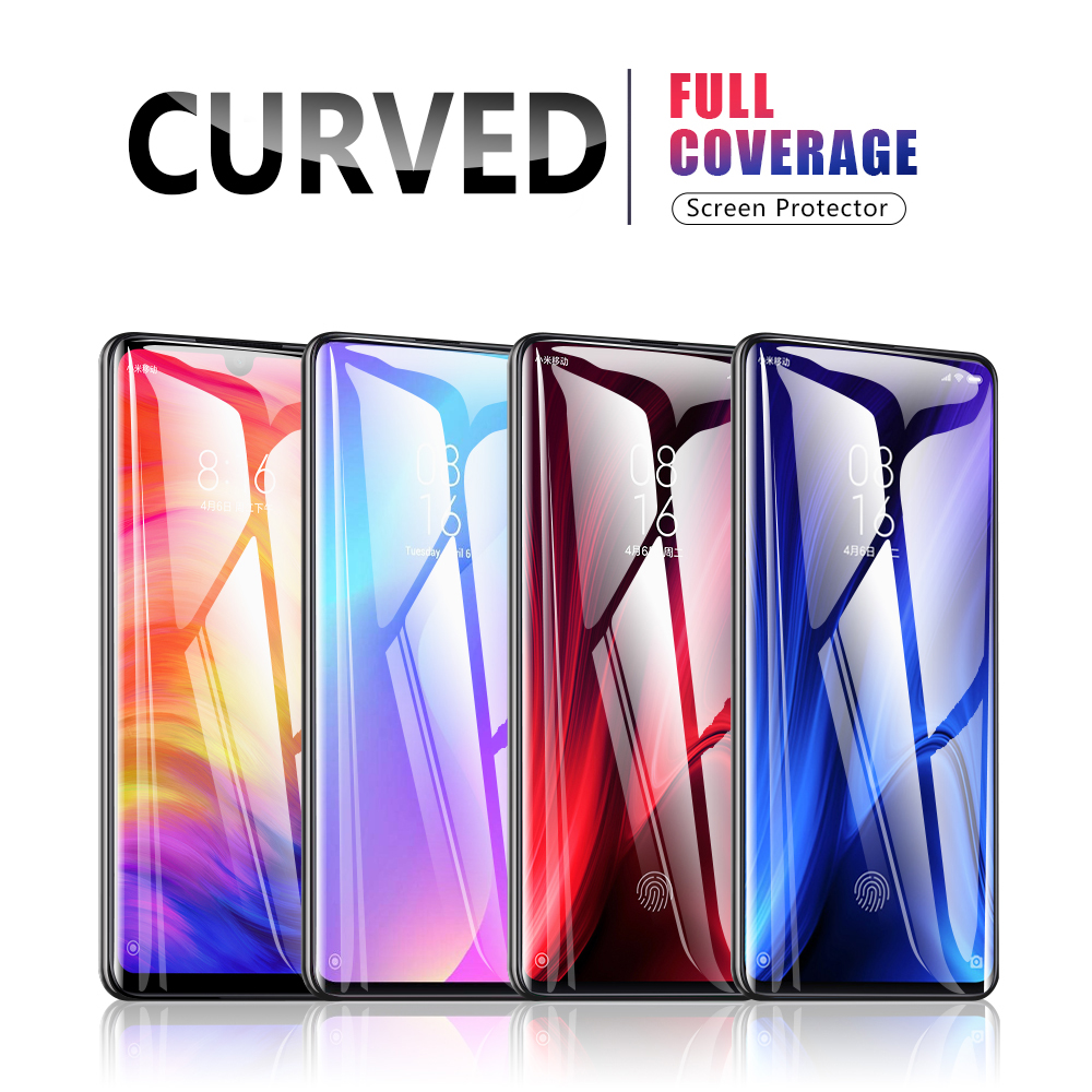 Curved Glass For Xiaomi Redmi Note 5 7 8 Pro Safety Glass Screen Protector Full Glue For Mi 9t Redmi 7 7a Note 6 Pro Glass