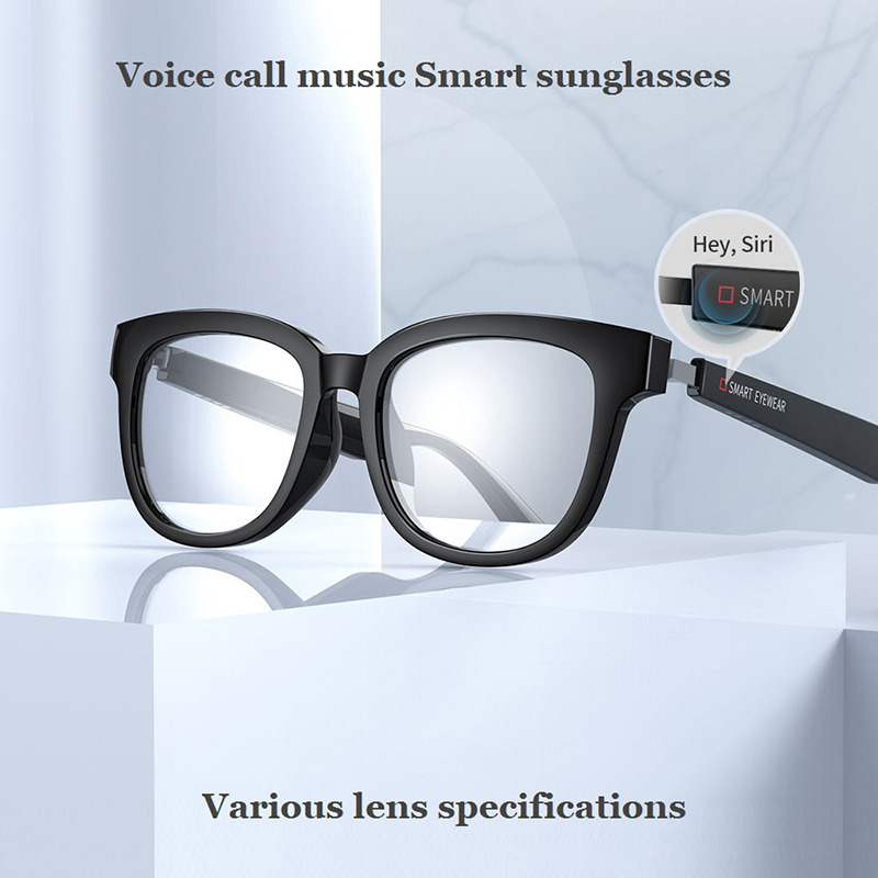 KX Bluetooth 5.0 Smart Glasses Music Voice Call Sunglasses Can Be Matched With Prescription Lenses Compatible IOS Android