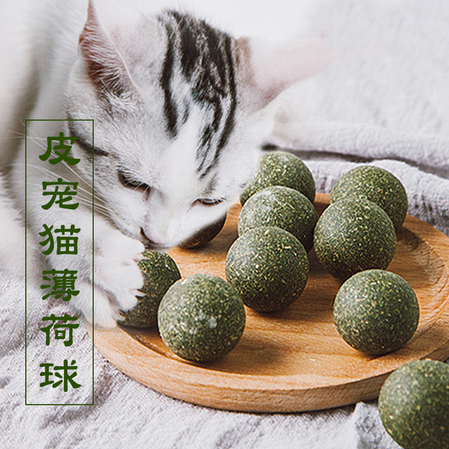 Pet Catnip Toys Edible Catnip Ball Safety Healthy Cat Mint Cats Home Chasing Game Toy Products Clean Teeth Protect The Stomach 1