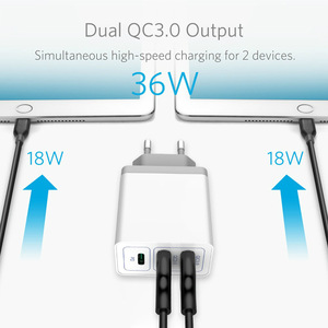 2-Порты и разъёмы QC3.0/FCP/AFC 1 Порты и разъёмы PD для быстрого настенного зарядки 36 Вт 18 Вт USB C Мощность адаптер для iPhone/iPad/pixel/samsung/huawei/просо/One Plus One