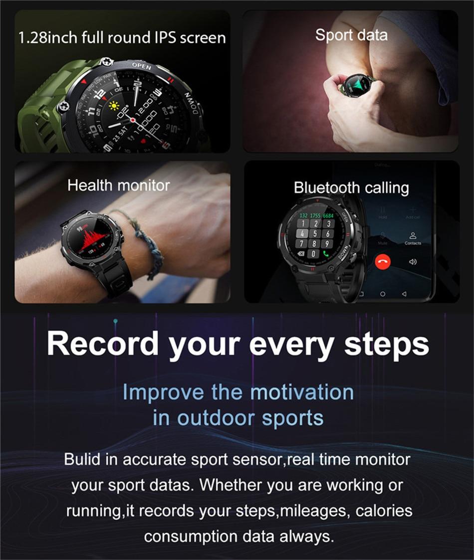 à prova dwaterproof água masculino smartwatch 2021 para android ios