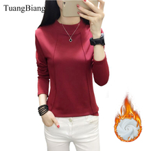 TuangBiang 2019 Winter Turtleneck Keep warm T shirts Woman L
