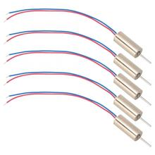 5pcs 6 x 14mm Micro Coreless Motor 3V 53200rpm low power consumption for Toys / Tattoo Machines Drones