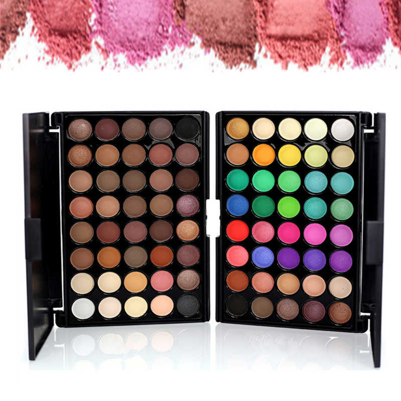 40 Warna Eye Shadow Palet Matte Glitter Eyeshadow Berlian Shimmer Eye Shadow Palet Eye Shadow Wanita Eyeshadow Pallet Telanjang