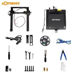 Image 5 - Lotmaxx SC 10 impressora 3d kit de impressão silenciosa 235*235*280mm construir volume built in segurança fonte de alimentação filamento correr para fora detecção