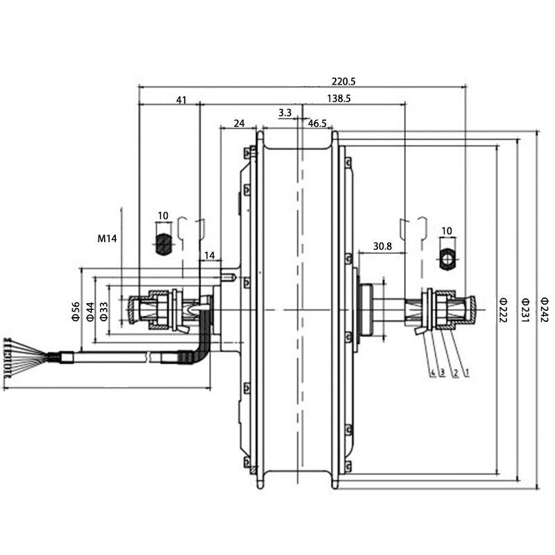 MXUS 3000W Hub Motor 72V Bürstenlosen Nicht-Getriebe Hub Motor Elektrische Fahrrad Hinten Rad Motor Ebike Conversion kit XF40 26/29 zoll
