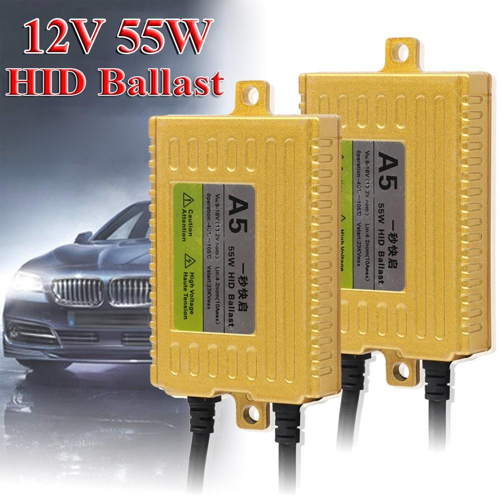 55W HID Ballast Slim Xenon AC Ballasts Replacement Universal For Headlight Bulbs