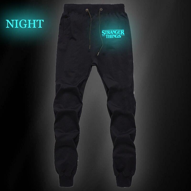 Stranger Things Luminous Mens Pants Casual Trousers Joggers Bodybuilding Fitness Pants Autumn Winter Sportswear Sweatpants