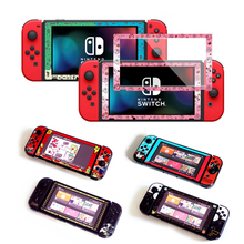 Anime Screen Guard Protector For Nintendo Switch Console Ultra Thin Crystal Film Tempered Glass NS Accessories Color Border 9H