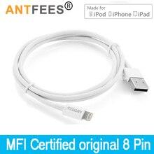 Cable USB de carga rápida para iPhone 10, 8, 7 Plus, XS, Max, XR, X, ipad, 1M, 3M, certificado MFI, 2.4A