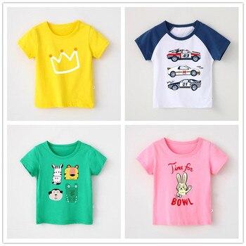 VIDMID, 2-10 años, camisetas de manga corta para niños, camisetas de verano, ropa casual de algodón, camisetas, tops, Ropa para Niñas bebés 4018 40