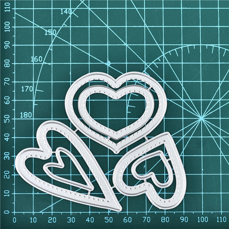 GJCrafts Love Craft Dies Metal Cutting Dies New 2019 Stitched Heart Stencil For Dies Scrapbooking Paper Cards Embossing Die Cut
