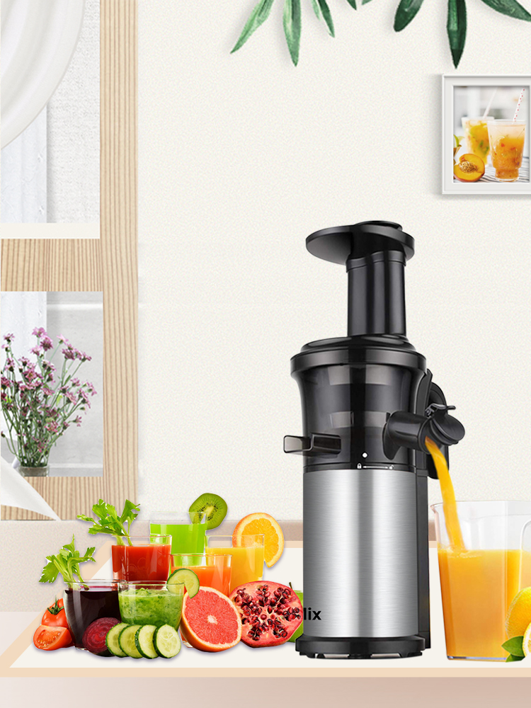 Auger Juicer Extractor Cold-Press Masticating Fruit Stainless-Steel Slow Compact And