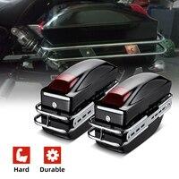 1Pair Universal Motorcycle Side Boxs Luggage Tank Tail Tool Bag Hard Case Saddle Bags For Kawasaki For Honda For Yamaha MT07 09