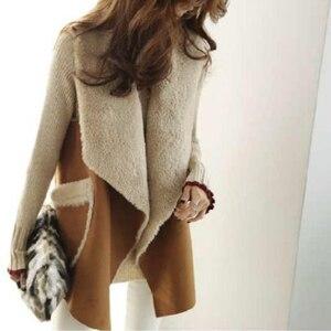 Image 3 - TWOTWINSTYLE Koreaanse Lam Wollen Vest Jassen Vrouwelijke Mouwloze Revers Kraag Casual Jas Voor Vrouwen Plus Dikke 2019 Winter Mode