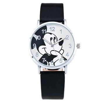 Relogio Feminino Fashion Casual Cartoon Women Watches Leather Strap Children Girl Boy Watch Kids Quartz Wristwatches