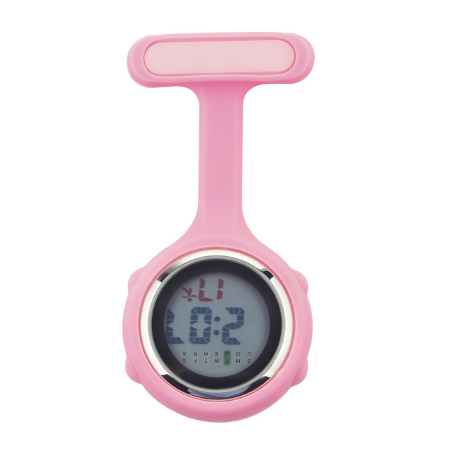 Digital Silicone Nurse Verpleegkundige Watches Fob Pocket Watch Doctor Nursing Timepiece Brooch Lapel Medical Quartz Clock Clip