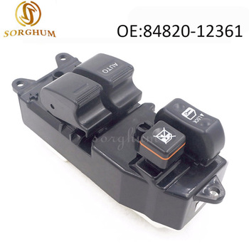 front left 84820-12361 Power Window master control Switch 8482012361 for 1997-2002 Toyota Corolla E11 84820-12450 84820-52090 for 2002 2008year audi a4 b6 b7 left front door drivers master electric power window lifter regulator control switch accessories