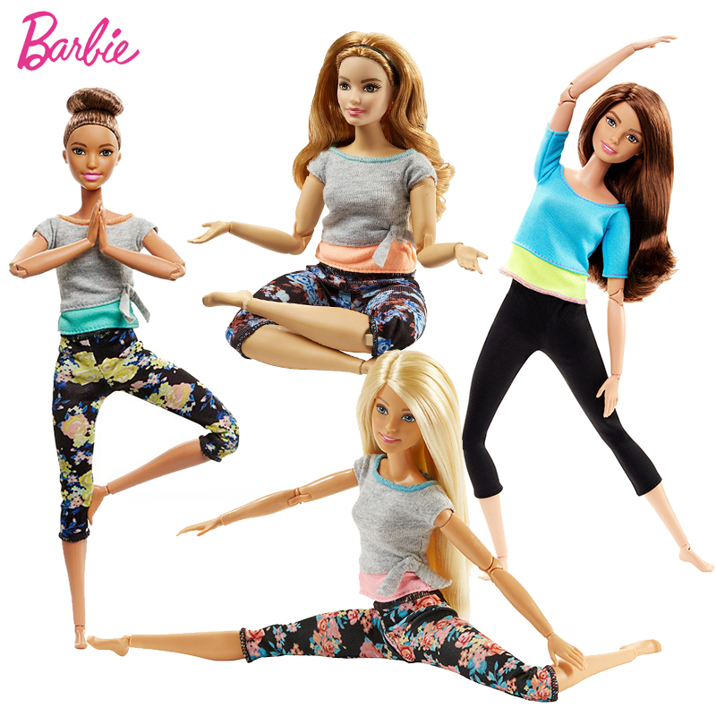 Barbie Original Doll All Joints Movable Style Yoga Dolls Sports Movement Model Girls Baby Birthday Gift Toy For Children Bonecas