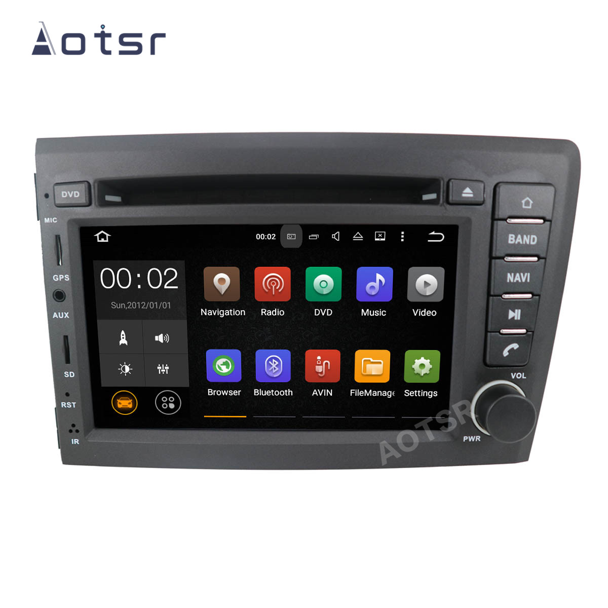AOTSR Autoradio 2 Din Coche Android 9 Pour VOLVO S60 V70 XC70 XC90 2000 2001 2002 2003 2004 GPS Navigation 2Din Autoradio