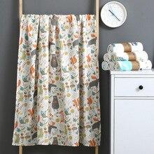 Double Gauze Wrap Towel Baby Bath Towel Baby Stroller Cover Blanket Newborn Wrap Towel