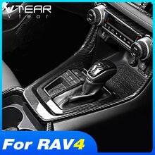 Vtear Für Toyota RAV4 2020 2019 Zubehör Konsole Getriebe Shift Dekoration Panel Abdeckung Innenleisten Modifikation Aufkleber