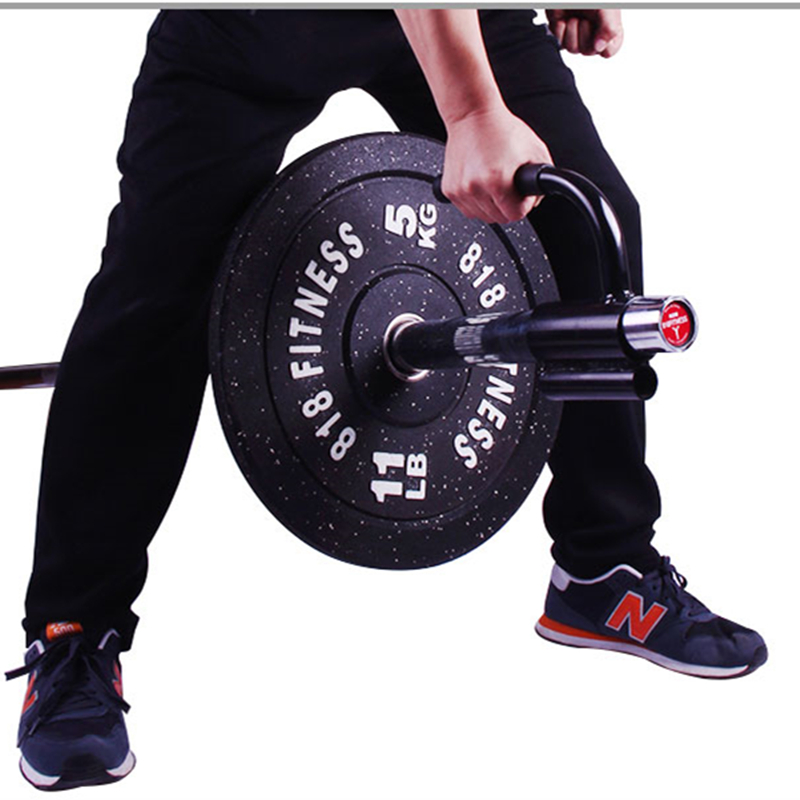 Core Strength Trainer Barbell Attachment Gym Home Fitness Barbell T-Bar V-Bar  Weight Lifting Training Handle Rowing Bar Rod F11