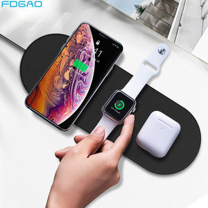FDGAO Dock-Station Wireless-Charger Watch Fast-Charging-Pad Apple iPhone 11 3-2-Airpods