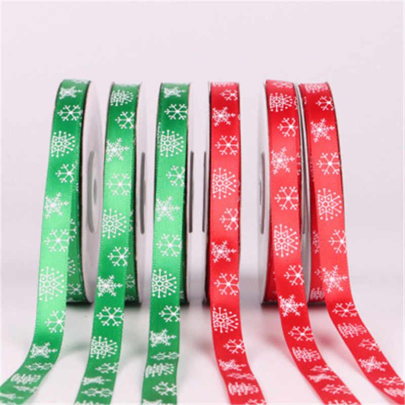 1 CENTIMETRI Nastri di Seta per la Cerimonia Nuziale Festa Di Natale Decorazioni FAI DA TE Craft Bow Nastri Carta di Fiore Regali Da Imballaggio Forniture Regali di Natale