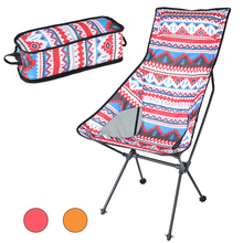 HooRu Backrest Chair Beach Hiking Fishing Folding Chair Outdoor Portable Lightweight Backpacking Camping Chairs with Carry Bag