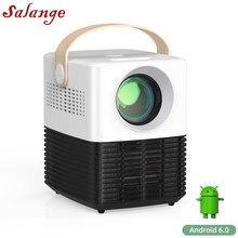 Salange Мини проектор P50 , Портативный видео проектор для мобильного телефона домашнего кинотеатра светодиодный проектор HDMI USB Android WiFi опционал...
