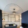 Скандинавские подвесные светильники  соломенная шляпа  Подвесная лампа для гостиной  спальни  столовой  домашнего декора  Лофт лампа E27  све...