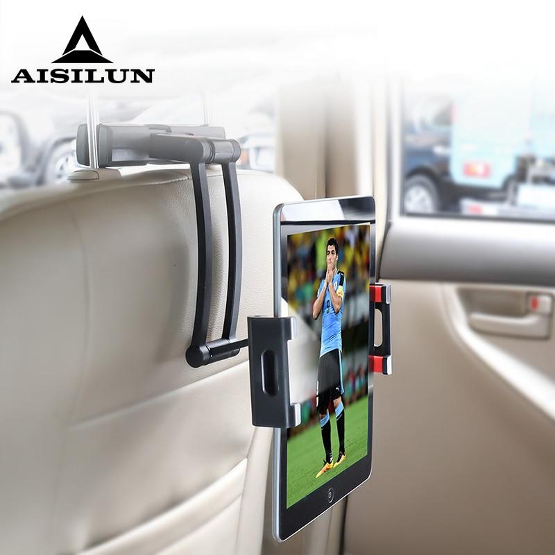 Suporte de carro de alumínio tablet para ipad ar mini 23 4 pro 12.9 encosto de cabeça 5-13 Polegada suporte do telefone suporte kindle nexus suporte