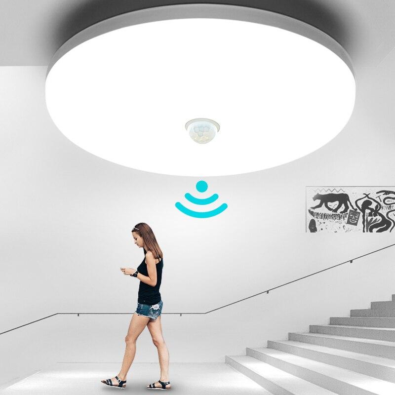 PIR Motion Sensor LED Lights Modern LED Ceiling Lamp Ultra-thin Warm White Cold White Balcony Foyer Hallways Corridor Garage