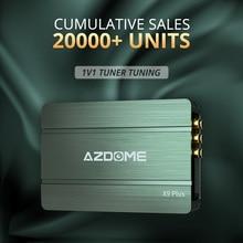 AZDOME مكبر للصوت 31 الفرقة مكافئ ضبط معالجة الصوت مكبر للصوت ستيريو مكبر للصوت سيارة الصوت X9 زائد DSP مكبر للصوت بلوتوث