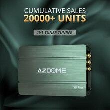 AZDOME wzmacniacz 31 band EQ strojenia przetwarzania dźwięku wzmacniacz stereo subwoofery samochodowy sprzęt audio X9 Plus DSP wzmacniacza Bluetooth