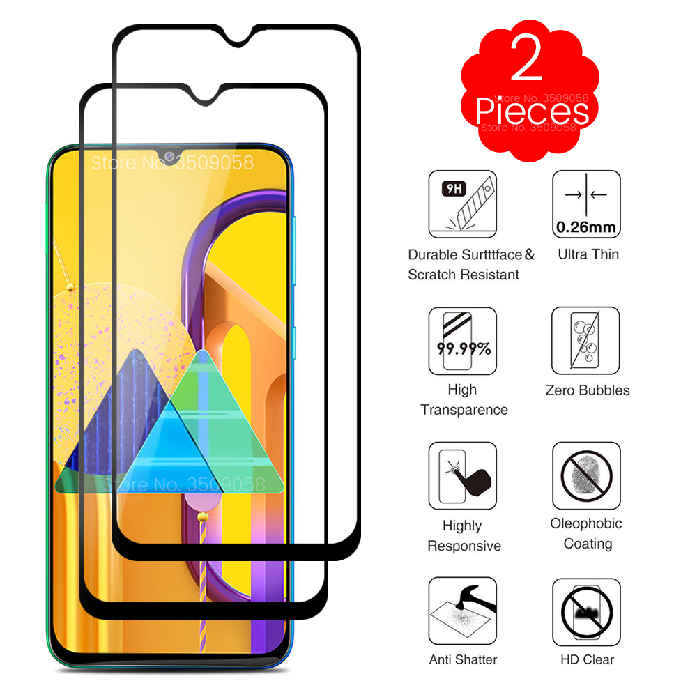 2PCS Samsun M 30 S Protective Glass For Samsung Galaxy M30s M 30s M307f/ds 6.4'' Phone Screen Protector Glass Sansung M30 S Film