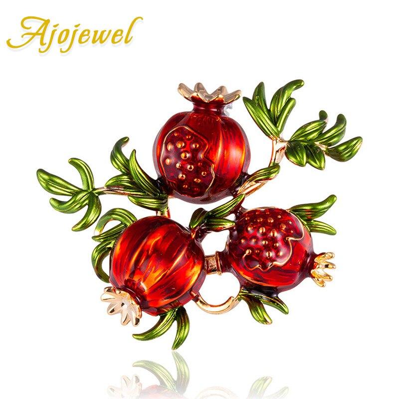Ajogem émail grenade bijoux personnalisé Broche 2019 nouveau cadeau de noël pour les femmes filles Joyas Broche