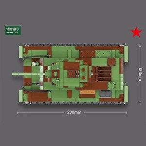 Image 4 - 726 sztuk wojskowy rosja KV 1 Tank Building Blocks WW2 wojskowy czołg żołnierze sił zbrojnych figurki broń części cegieł zabawki dla dzieci