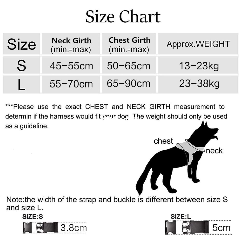 Dog Collar size chart