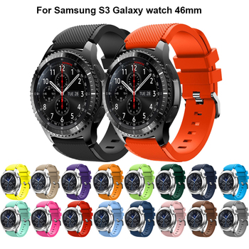 20 colors Watch Band Strap 22mm For Samsung Gear S3 Classic Frontier Sports Silicone Bracelet Watchbands Soft TPU Watch Bracelet image