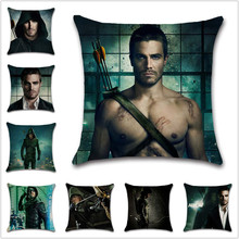 Green Arrow Oliver Queen TV pattern Cushion Cover Decoration Home sofa chair seat kids bedroom gift friend present pillowcase free shipping custom made oliver queen cospla costume green arrow from arrow tv series high quality christmas