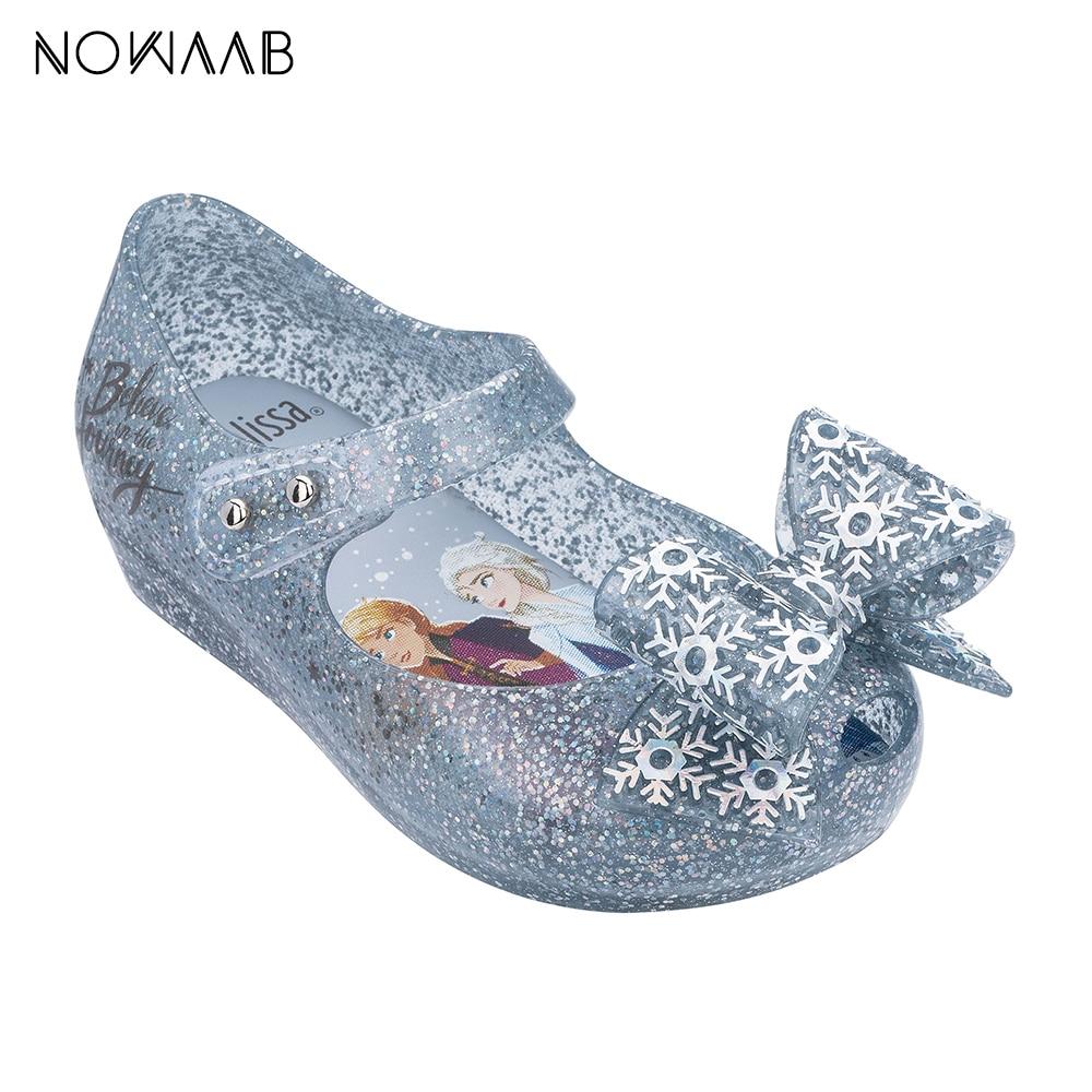 Mini Melissa Snow Princess Mermaid Princess Girl Sandals 2020 Jelly Shoes Sandals Kids Sandals Children Beach Shoes Toddler Shoe