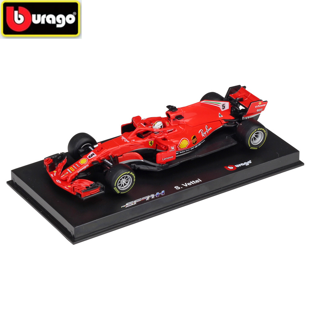 BBURAGO 1:43 <font><b>F1</b></font> Racing Car <font><b>2018</b></font> FERRAR SF71H 2019 SF90 Diecasts Simulation Alloy Model Kids Toys and Gifts Hardcover Edition image