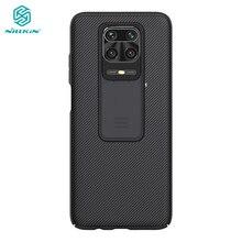 Redmi nota 9 pro caso nillkin slide câmera capa de proteção para xiaomi redmi nota 9 pro max 9s 10x 5g embalagem
