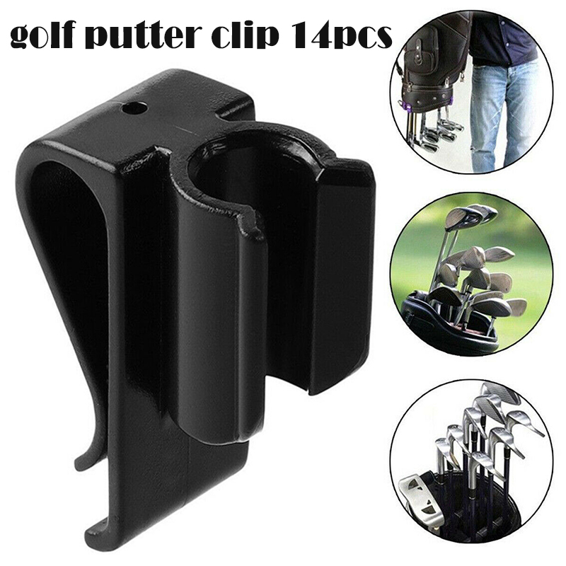 14Pcs/Set Golf Bag Clip On Putter Clamp Holder Putting Organizer Club ENA88