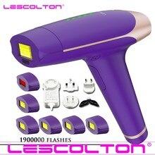 Lescolton depilador a laser permanente t009, depilação ipl à laser, 1900000 vezes, uso corporal inteiro, depilador ipl