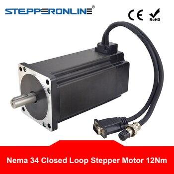 Closed Loop Nema 34 Stepper Motor 12Nm Encoder 1000CPR 6A 2 Phase 4-lead 86 CNC Stepping Motor 14mm Shaft