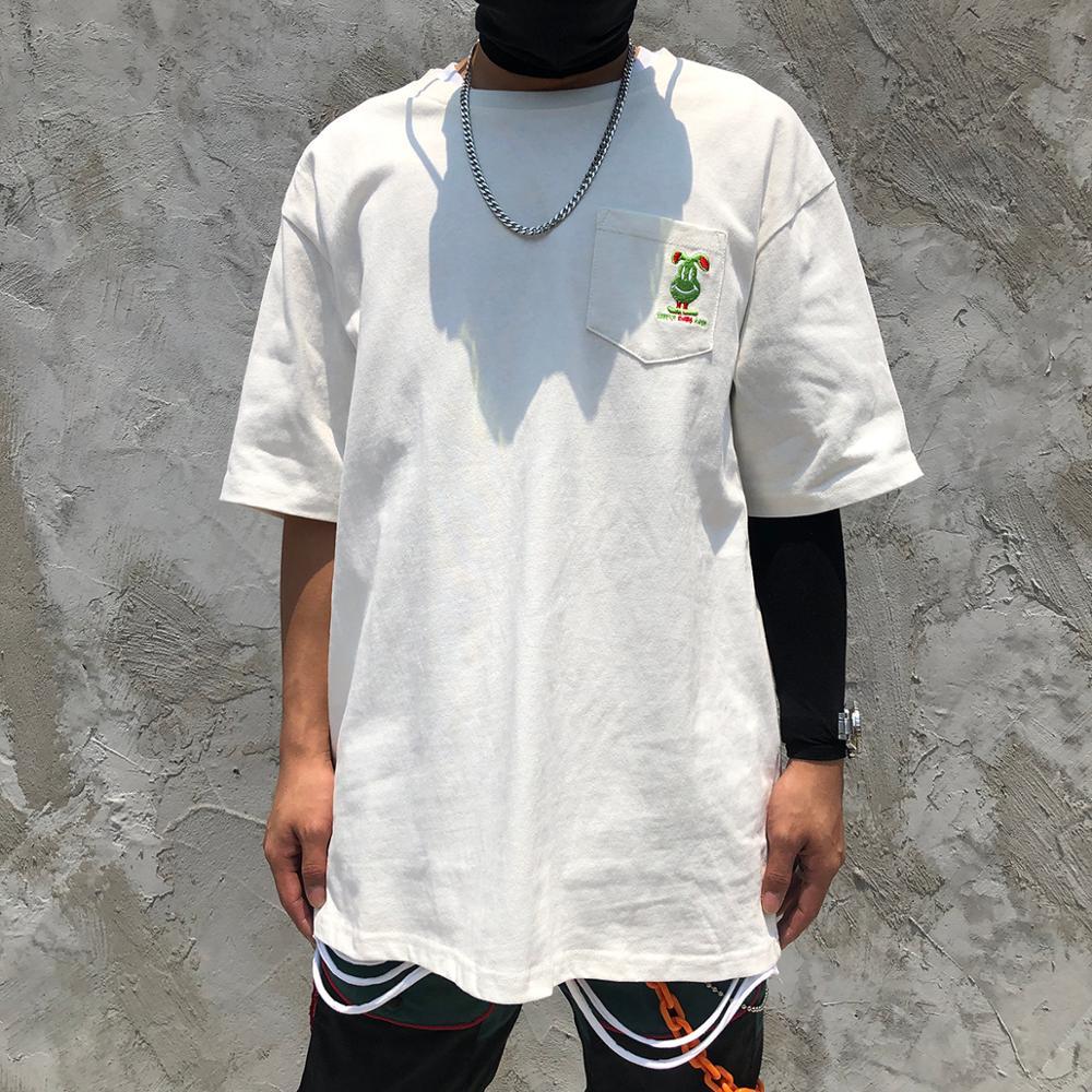 Футболка мужская свободного покроя, с коротким рукавом и принтом, 100% хлопок